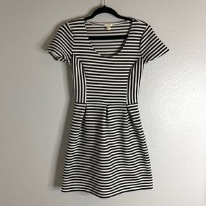 J.Crew Black and White Striped Dress Size 2
